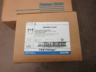 One box of five Thomas and Betts 2-TB Ground clamps New