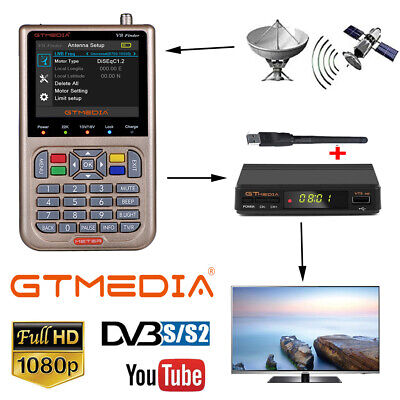 Digital GTMEDIA HD DVB-S2/S2X Satellite Finder+1080P FTA TV decorder+WIFI Antenn