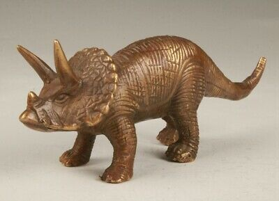 Unique Chinese Bronze Hand-Carved Dinosaur Statue Old Collection Decoration