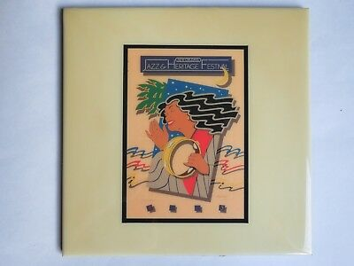 Festival TILE ~ New Orleans Jazz & Heritage Fest ~ RARE 1983 Hugh Ricks Design