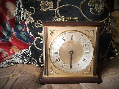 Collectable Metamec Quartz Clock For Spares Or Repair Lovely Face And Case