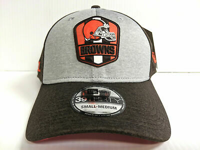 best website d820d 32b68 Cleveland Browns Cap New Era 39Thirty Stretch On Field 2018 Road Sideline  Hat