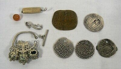 Arabic Islamic Ottoman Silver Coin Lot & other Vintage Antiques from Estate Sale