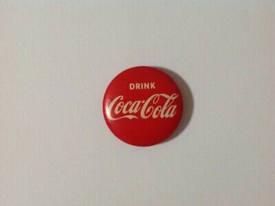 Collectable 1960's Drink Coca Cola tin badge