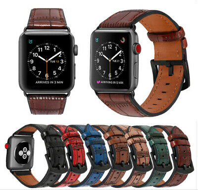 38mm/44mm Retro Genuine Leather iWatch Band Strap For Apple Watch Series 1 2 3 4