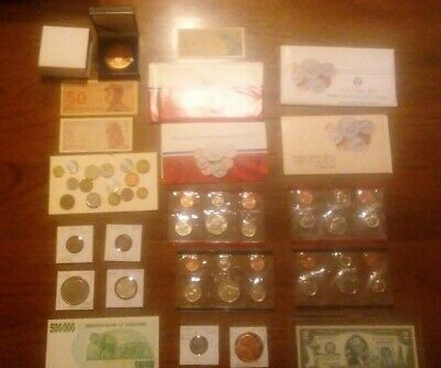 BIG coin LOT collection MINT SETS PROOF ROUND INDIAN $2 sealed NO JUNK DRAWER