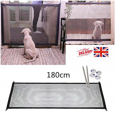 Dog Mesh Magic Pet Gate Safe Guard Door Indoor Safety Enclosure Net UK Stock