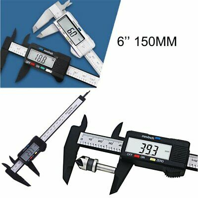 "150mm 6"" Stainless Steel Electronic Digital LCD Vernier Caliper Micrometer"