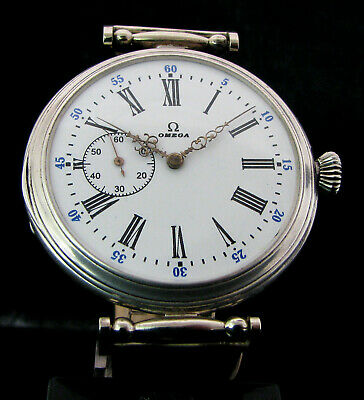 Omega Antique 1913 Deco Silver Wristwatch
