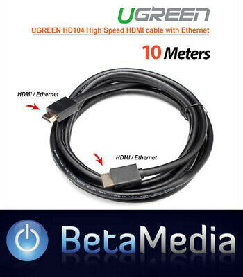 Premium Ugreen HDMI Cable HIGH SPEED Ultra 4K HD 3D V2.0  with Ethernet 10M