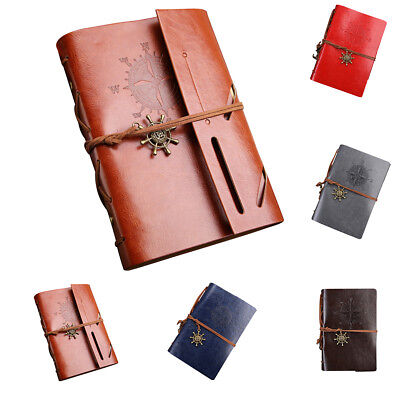 Vintage Retro Leather Journal Travel Notepad Notebook Corsair Diary Book