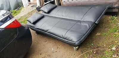 Double Sofa Bed Leather