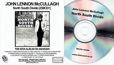 JOHN LENNON McCULLAGH North South Divide UK promo test CD 359 Music Alan McGee