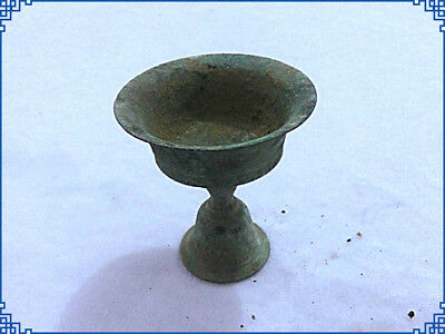 China copper  Come from FOLK Collection Old decoration Old bronze Wine Glass
