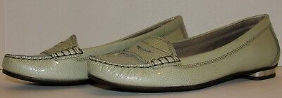 dffeeda137d Genuine Cole Haan Green Patent Leather Penny Loafers Women s Size 7.5 B!