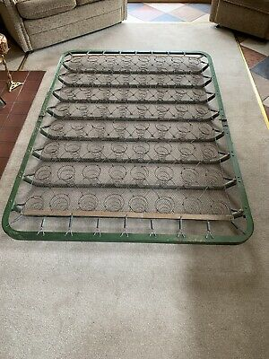 Vintage/Antique double bed green folding spring base