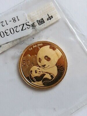 Goldmünze Panda China 50 Yuan von 2019 Fein 3 Gramm