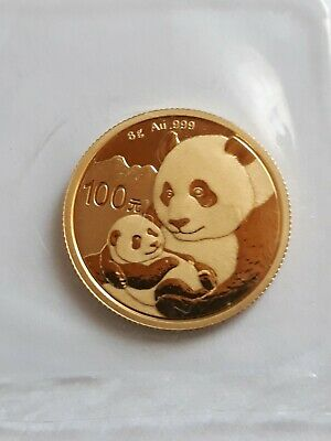 Goldmünze Panda China 100 Yuan von 2019 Fein 8 Gramm