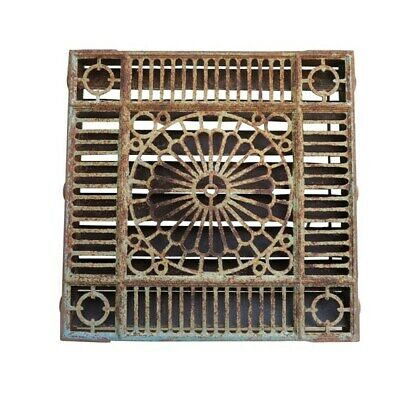 Antique Victorian Genuine Cast Iron Floor Grille / Vent - Grids Heating Covers