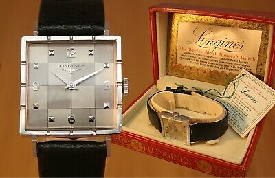 1955 LONGINES Gents Vintage Swiss Watch + Box & Tag / Gold Fld / FULLY SERVICED