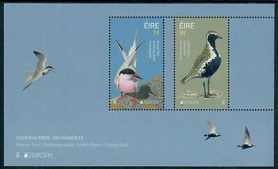 Ireland 2019 National Birds/Europa Tern, Plover on Mini-Sheet of Two Stamps MNH