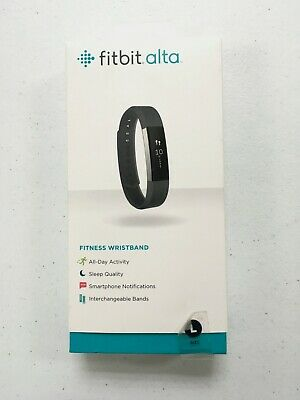 Used Fitbit Alta Fitness Wristband Activity Tracker- Large size Black