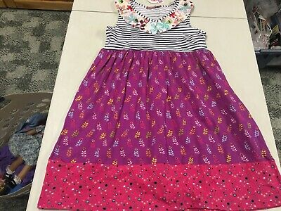 Nwt Jelly The Pug Boutique Fun Print Knit Sleeveless Dress  Girls  Sz  12