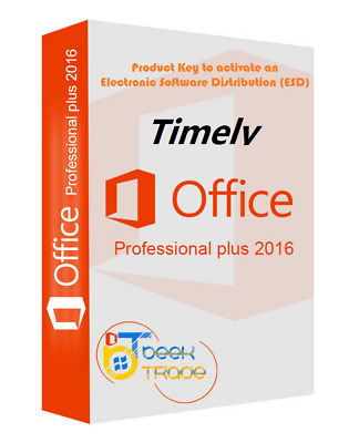 Genuine Microsoft MS Office  2016 Home Personal  32/64Bit  Lifetime Key License