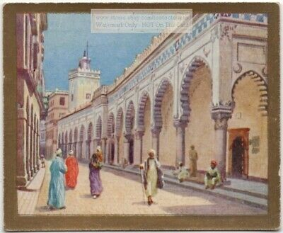 Grand Mosque Algiers Islam North Africa 1920s Trade Ad Card