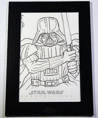 Topps Star Wars Chrome Perspectives Darth Vader Sketch Card by Eric Lehtonen