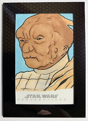 2014 Topps Star Wars Chrome Perspectives Sketch Card by Chris West