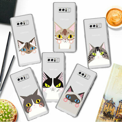 For Samsung Galaxy S10 P S10e S9 Phone Case Cat Print Cover Soft TPU Silicone