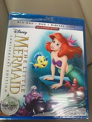 The Little Mermaid (Blu-ray, DVD, Digital) BRAND NEW 2019 30th Anniversary