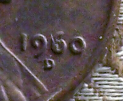 """1960-D Error Coin - Filled """"6"""" Lincoln Memorial Cent's ( 1 Coin ) ( Itm#7495 )"""