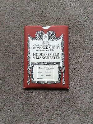 Reprint of 1st edition one inch Ordnance Survey Map,Huddersfield & Manchester