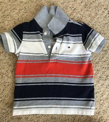 Baby Boys Toddlers Top 12-18 Months Tommy Hilfiger Designer In Great Condition