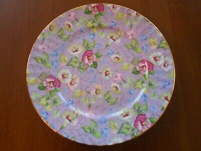"Lavender Fine Bone China  Crown Trent Salad Luncheon Dessert Plate 8-1/4"" Decor"