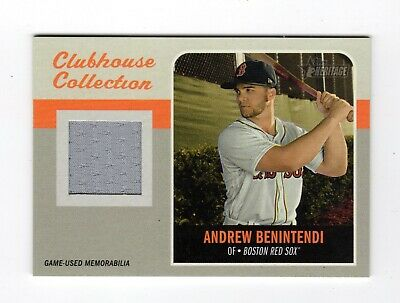 Andrew Benintendi Mlb 2019 Topps Heritage Clubhouse Relics (Boston Red Sox)