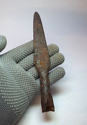 ANCIENT RARE 100% Authentic Viking period Iron SPEAR JAVELIN 9-10 century AD#022