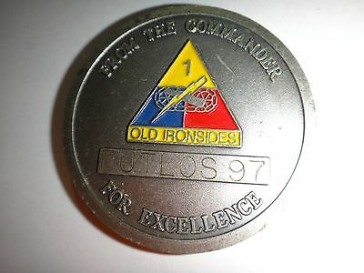 US Army 1st Bn 4th ADA Regiment 1st Armored Div FOR EXCELLENCE Challenge Coin