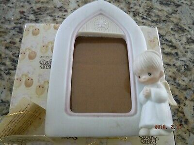 Precious Moments - Cathedral Shape Picture Frame W/Boy Angel  - E-7168