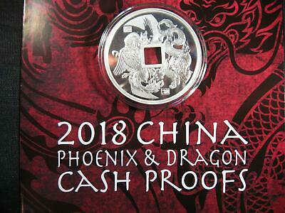 2018 China Dragon & Phoenix 1 OZ. SILVER PROOF - ONLY 5,000 Minted w/COA
