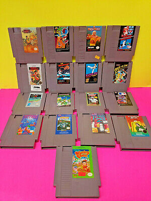Nintendo NES 17 Game Lot Kung Fu Super Mario Bros. TMNT Wrestlemania