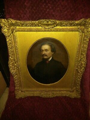 1863 Artist Sam Sidley Portrait Of Victorian English Author Charles Dickens