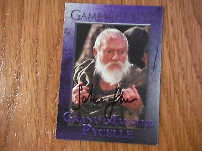 Julian Glover  Autographed Game Of Thrones Card Hand Signed grand maester pycell