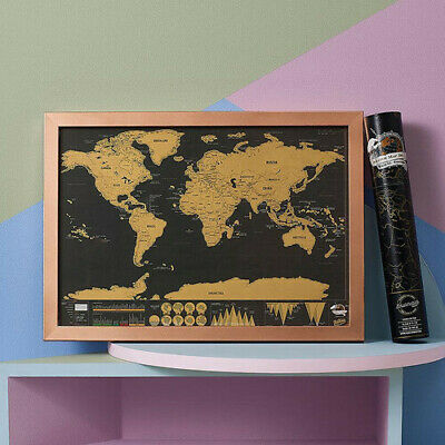 World Map Scratchie Deluxe Travel Edition holiday travel scratch