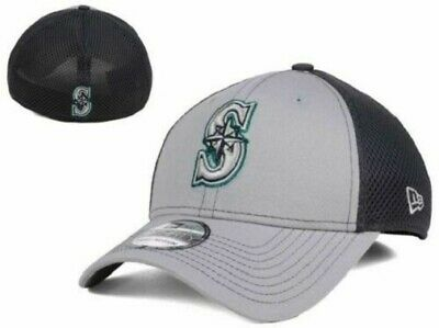 purchase cheap 489fb ad883 Seattle Mariners MLB New Era 39Thirty Grayed Out Neo Stretch Fitted Hat