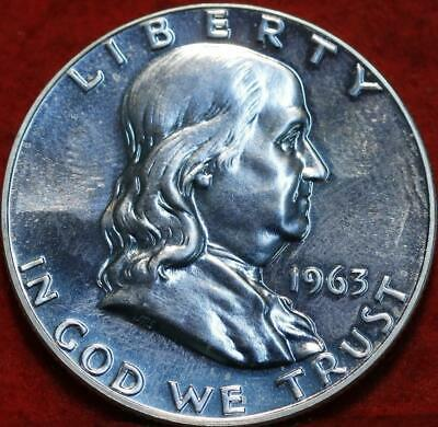 Uncirculated Proof 1963 Philadelphia Mint Silver Franklin Half