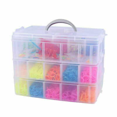 7500pcs Refill Rubber Bands For DIY Bracelet Colorful VIC Birthday Gift AU VIC