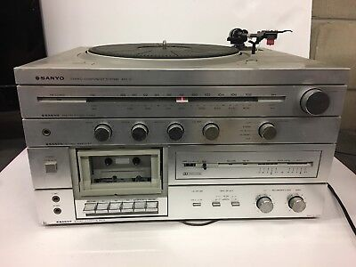 Vintage sanyo atr-10 stereo component system record & Tape player Powers
